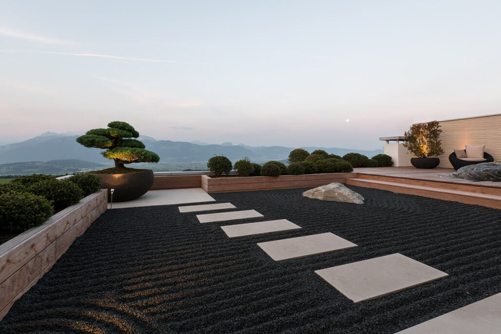 terrassengestaltung mit naturstein nach feng shui terrassen g rten best ndig. Black Bedroom Furniture Sets. Home Design Ideas