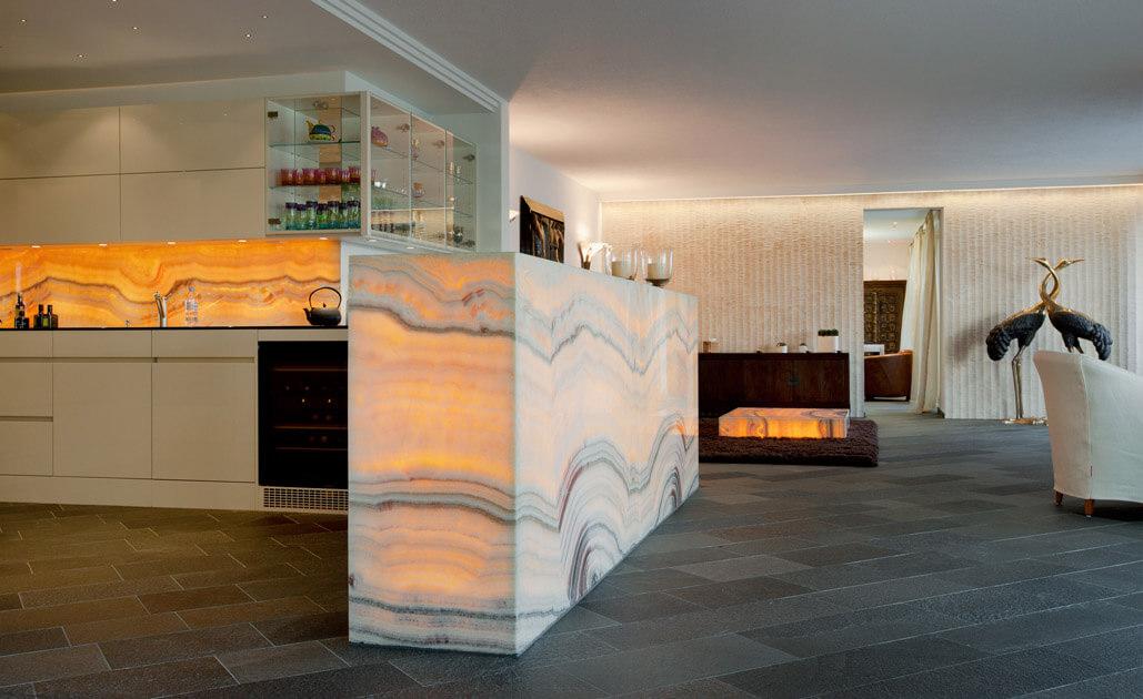 Onyx Hinterleuchtet design küche mit hinterleuchtetem onyx küchen funktional
